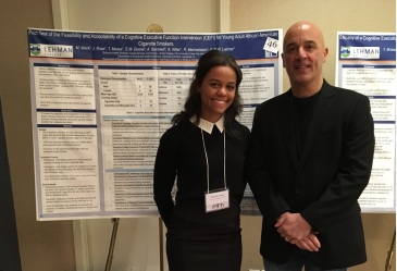 Dr. William Latimer with Michelle & her poster